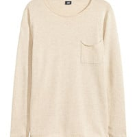 Fine-knit Cotton Sweater - from H&M