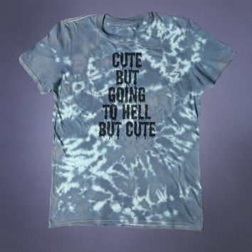 Creepy Cute Shirt Cute But Going To Hell Slogan Tee Soft Grunge Shirt Emo Punk Alternative Clothing Tumblr T-shirt