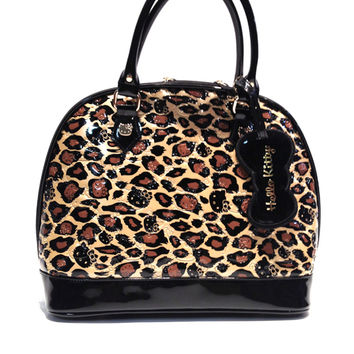 Loungefly – Hello Kitty Leopard Paten Embossed Tote Bag In Leopard|Thirteen Vintage