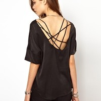 2nd Day Silk T-shrt with Low Strappy Back