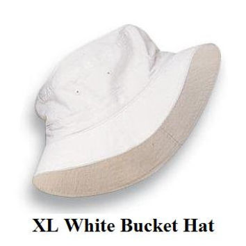 WHITE BUCKET Hat - Women or Men XL Adams Cap - Price Apparel Embroidery - 10 Different Colors
