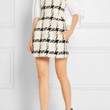 Alexander McQueen - Houndstooth tweed mini dress
