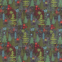 Juniper Berry by Basic Grey for Moda Fabrics, Christmas fabric, Coal, 3043016