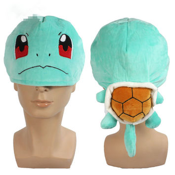 Pokemon Squirtle Plush Cosplay Cap Plush Hat Stuffed Toys Warm Gift For Christmas