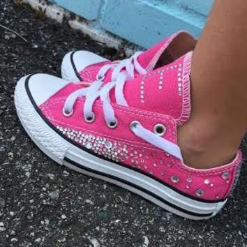 CUSTOM Initial/Monogram Rhinestone Childrens Converses - Makes the PERFECT gift!