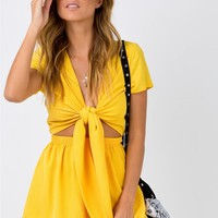 Pure Rhythm Playsuit Yellow