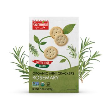 Rosemary Organic Mini Crackers | 10/5.29oz Boxes | Vegan Gluten Free Non-GMO | Free-shipping
