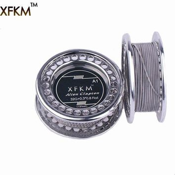 CREYLD1 XFKM 5m/roll  Flat Alien Clapton Wire for RDA RBA Rebuildable Atomizer Heating Wires Coil Tool Alien Clapton Heating Wire