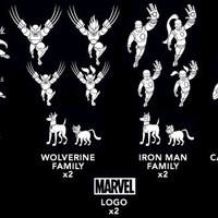Iron Man Family Car Decals
