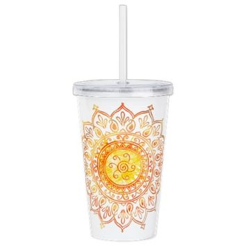 Nature Double Wall Acrylic Tumbler | Plastic Tumblers with Straw