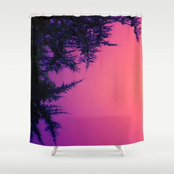 Peach, Pink, Purple Shower Curtain by DuckyB (Brandi)