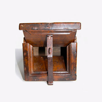 Early American Ballot Box Antique Victorian Americana Handmade Primitive Collectibles Rustic Home Decor Gift for Him or Her c1820-1850