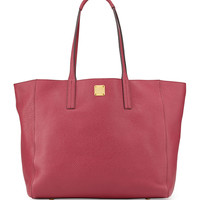 Shopper Project Reversible Leather Tote Bag, Scooter Red/Gold - MCM