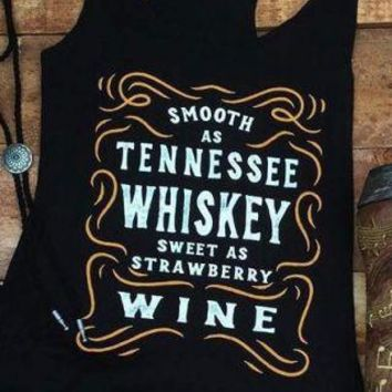 Smooth As Tennessee Whiskey Sweet As Strawberry Wine - Women's Drinking Tank Top