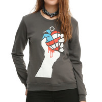 Green Day Grenade Heart Girls Pullover Top