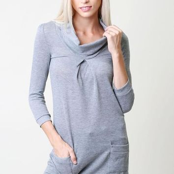 Tunic Top with pockets - Gray