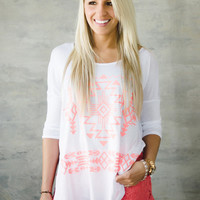 Tribal Quest Top (White)