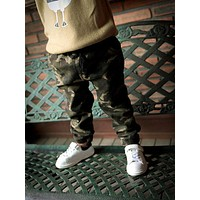 Spring Autumn Winter Fashion Baby Cotton Camouflage Pants Boys Children's Casual Outdoor Pants Kids Clothing