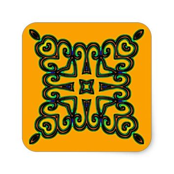 Decorative Square Sticker
