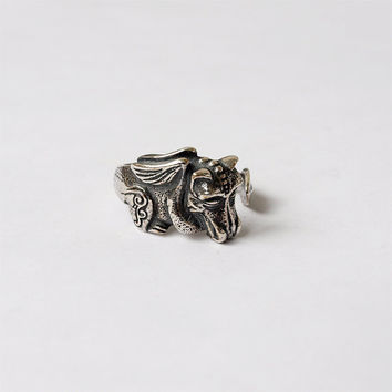Sleeping dragon, Dragon ring, Sleeping dragon ring, Dragon jewelry, Fantasy ring, Modern ring, Fashion ring, Size 7 ring