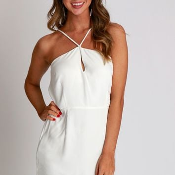 Class Act Dress Off White