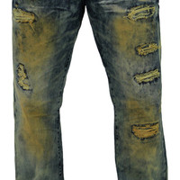 Jordan Craig Men's Straight Leg Fit Acid Wash Denim Jeans