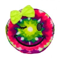 Tie Dye Smiley Face Pillow | Girls Sleeping Bags & Pillows Room Decor | Shop Justice