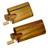 Teak Wood Dugout With Inlay - Swivel Lid - Small or Large - Grasscity.com