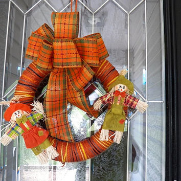 Fall Wreath, Fall Door Hanger, Fall Decoration Ready to Ship
