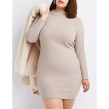 Plus Size Ribbed Knit Bodycon Dress | Charlotte Russe