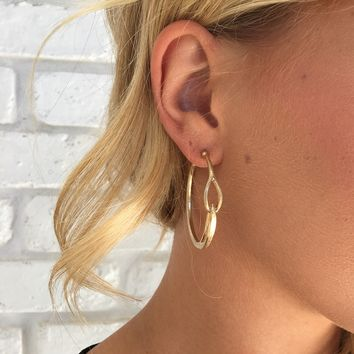 Young Gold Hoop Earrings