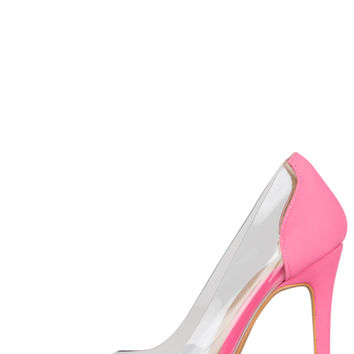 Gwen PVC Classic Pump (Bubblegum Pink)-FINAL SALE
