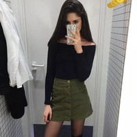 Women's Fashion High Waist Winter Lights Skirt [11405201103]