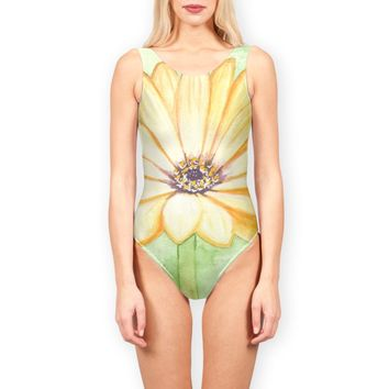 'Yellow daisy flower' Swimsuits by Savousepate on miPic