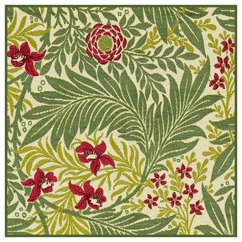 Green Larkspur detail 1 by William Morris Design Counted Cross Stitch or Counted Needlepoint Pattern