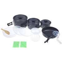 Outdoor Cooking Set Camping Pan Pot Kit Cookware Utensils