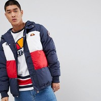 Ellesse Ski Padded Jacket With Logo Hood at asos.com