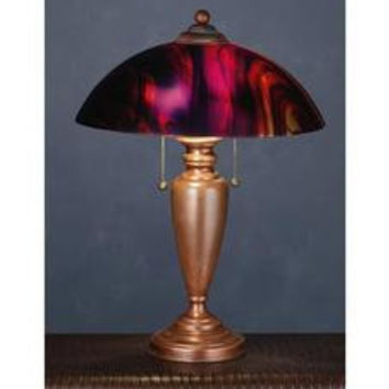 21.5 Inch H Cabernet/Vintage Copper Table Lamp Table Lamps