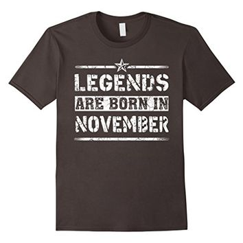 Legends Are Born In November Birthday Gift, Grunge T-Shirt