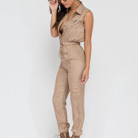 Work Or Play Collared Jumpsuit