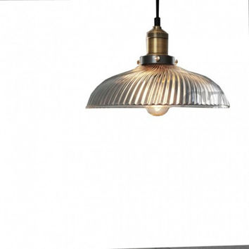 Countryside retro euro dinning room kitchen living room innovative clear screw glass pendant lamp light
