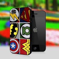 Pop Comic Art Super Hero Logo - Print On Hard Cover For iPhone 4,4S