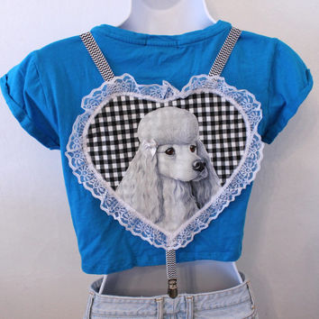 gingham poodle chevron suspenders