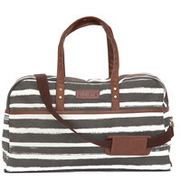 Stripes Charcoal Duffel Bag