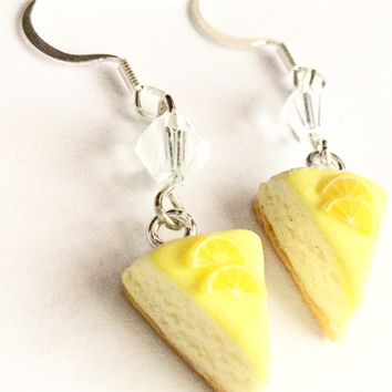 Lemon Cheesecake Dangle Earrings