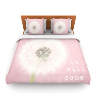 "Susannah Tucker ""It Will Come True"" Pink Flower Lightweight Duvet Cover"