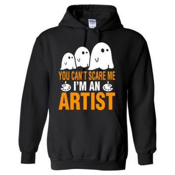 Halloween You Cant Scare Me I Am An Artist - Heavy Blend™ Hooded Sweatshirt