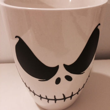 Jack Mug, Ceramic Cup, Coffee Lover, Nightmare Before Christmas, Gothic Mug, Nightmare Jack Mug, Jack Skellington,