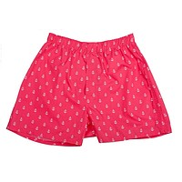 Anchor Boxers - Port (Coral Red)