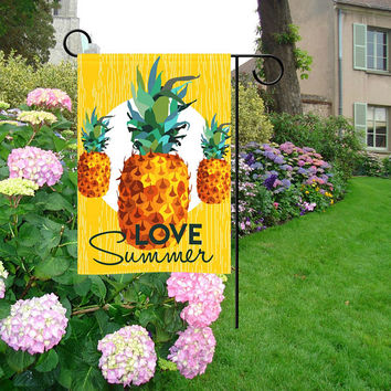 "Pineapple Love Summer Garden Flag 12""x18"""